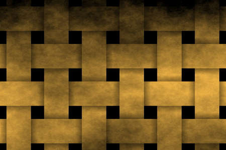 rattan: golden woven pattern Stock Photo
