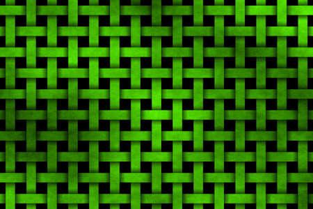 rattan: neon green woven pattern