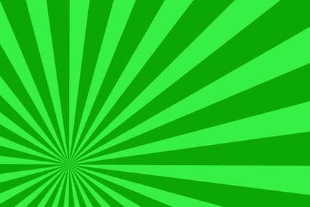 dark green: Illustration of light green and dark green rays from the corner
