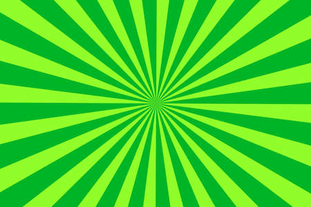 middle: Illustration of light green and dark green rays from the middle