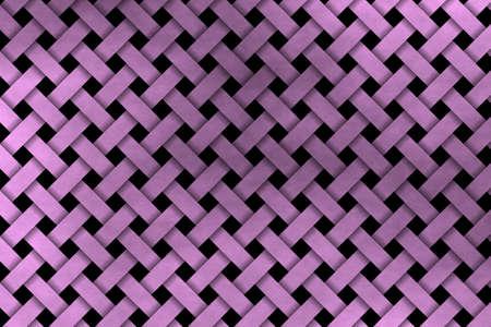 rattan: pink woven pattern