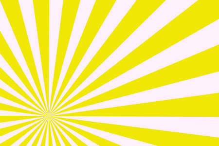buzzer: Illustration of white and yellow rays from the corner Stock Photo