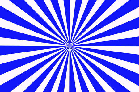 middle: Illustration of dark blue and white rays from the middle Stock Photo