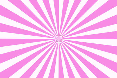 middle: Illustration of pink and white rays from the middle Stock Photo