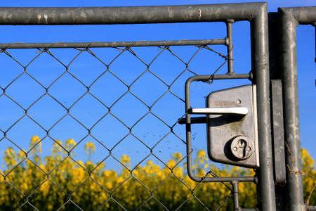 garden gate: close up of a garden gate Stock Photo