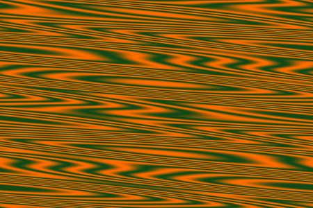 dark green: orange and dark green wooden illustration