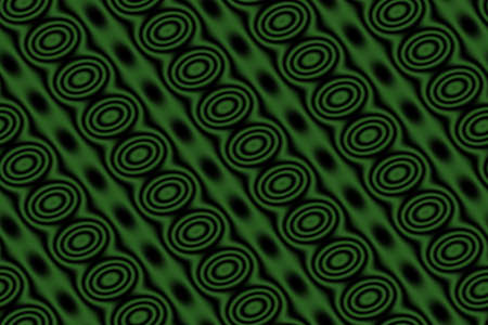 dark green background: Dark green background with black circles in diagonal lines Stock Photo