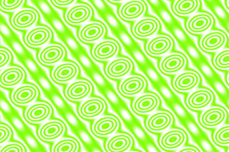 diagonal: White background with green circles in diagonal lines