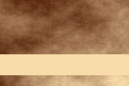 Brown and vanilla colored smoky background with vanilla colored banner Stock Photo