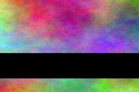 smoky: Multicolor smoky background with black banner