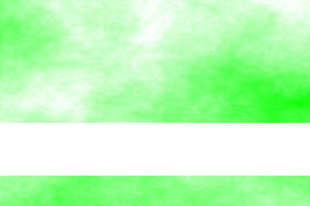 fume: Green and white smoky background with white banner Stock Photo