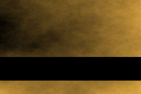 fume: Golden and black smoky background with black banner