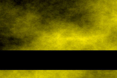 smoky: Yellow and black smoky background with black banner
