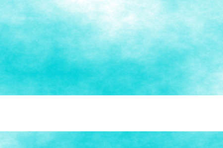 smoky: Cyan blue and white smoky background with white banner
