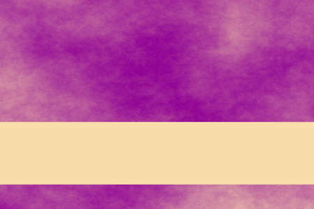 smoky: Purple and vanilla colored smoky background with vanilla colored banner Stock Photo