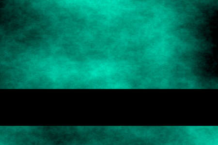 fume: Cyan blue and black smoky background with black banner Stock Photo