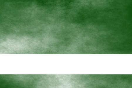 smoky: Dark green and white smoky background with white banner Stock Photo