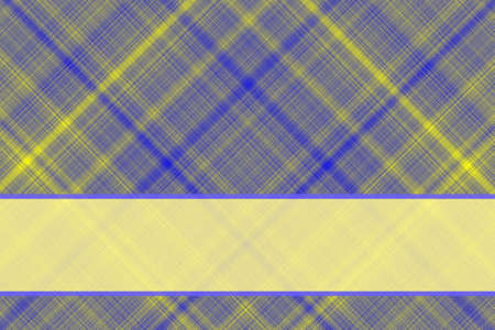 dark blue: Dark blue and yellow checkered illustration with yellow banner Stock Photo