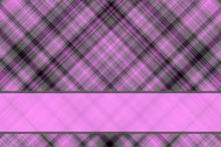 pink and black: Pink and black checkered illustration with pink banner Stock Photo