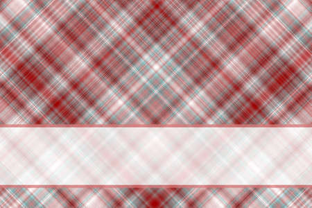 checkered label: Illustration red and white checkered with white banner