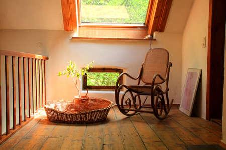 rocking: Rocking chair Stock Photo