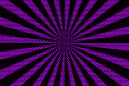 hexagonal pattern: Purple and black rays from the middle with hexagonal pattern