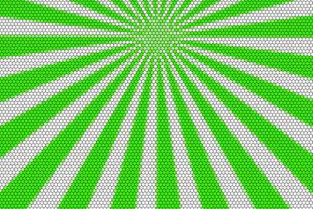 hexagonal pattern: Green and white from the top with hexagonal pattern Stock Photo