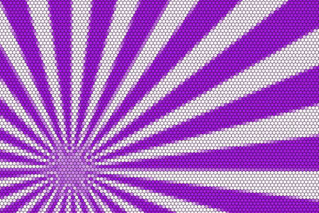 hexagonal pattern: Purple and white rays from the corner with hexagonal pattern