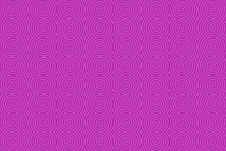 Illustration of repetitive magenta spirals