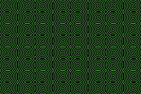 neon green: Illustraton of repetitive neon green spiral