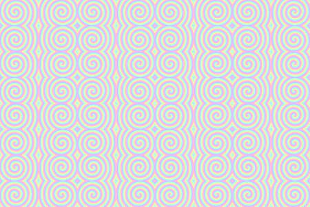 repetitive: Illustration of repetitive pastel colored spirals