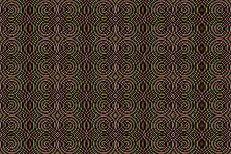repetitive: Illustration of repetitive rainbow spiral Stock Photo