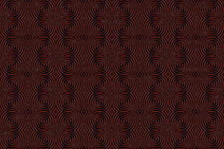 plural: Illustration of repetitive red and black spirals Stock Photo
