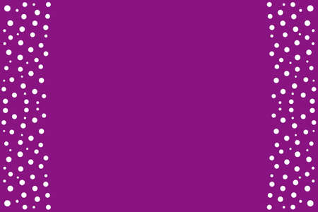 White dots as side frame on a purple background