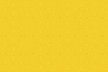 plural: Illustration of repetitive yellow spirals Stock Photo