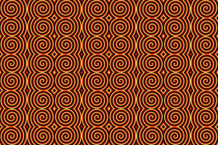inferno: Illustration of repetitive inferno spirals Stock Photo