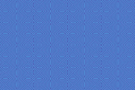 repetitive: Illustration of repetitive blue spirals Stock Photo