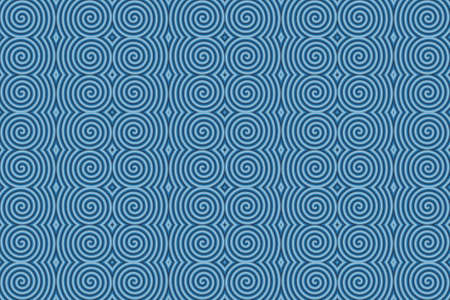 repetitive: Illustration of repetitive light blue and dark blue spirals