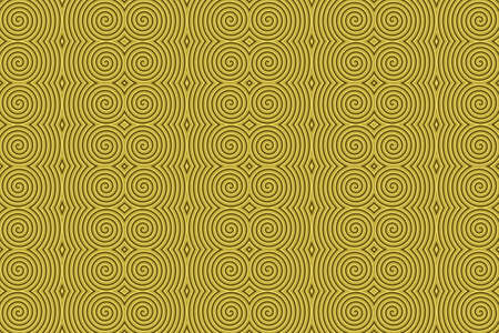 repetitive: Illustration of repetitive golden spirals