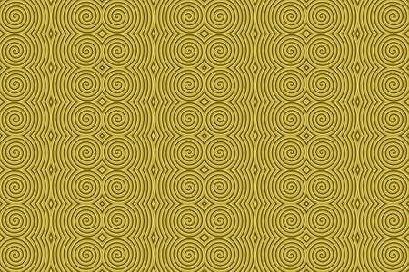 Illustration of repetitive golden spirals