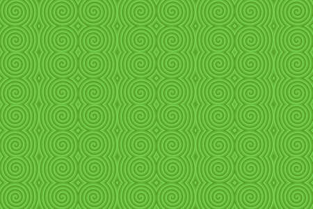 plural: Illustration of repetitive green spirals