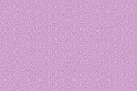 Illustration of repetitive purple and white spirals Imagens