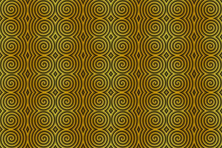 Illustration of repetitive yellow and black spirals
