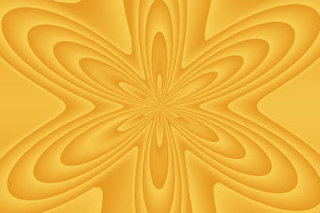 buzzer: Illustration of an abstract orange flower
