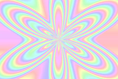 pastel colored: Illustration of an abstract pastel colored flower