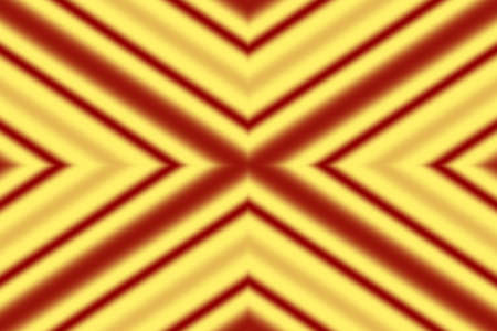 Illustration of a red and yellow x pattern Stock Photo