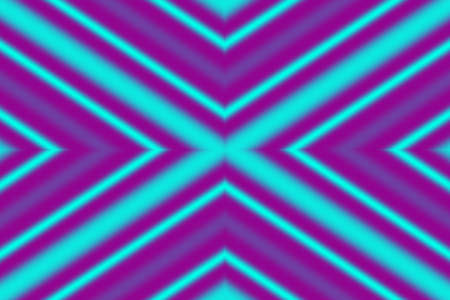 factor: Illustration of a cyan and purple x-pattern