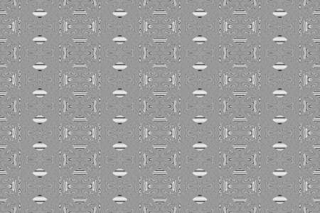 repetitive: Illustration of repetitive black and white flowers