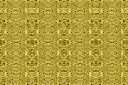 repetitive: Illustration of repetitive golden flowers