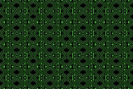 neon green: Illustration of repetitive neon green flowers